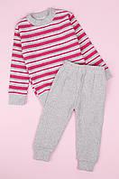 Пижама детская теплая малиновая ABC 1И-3, фото 1