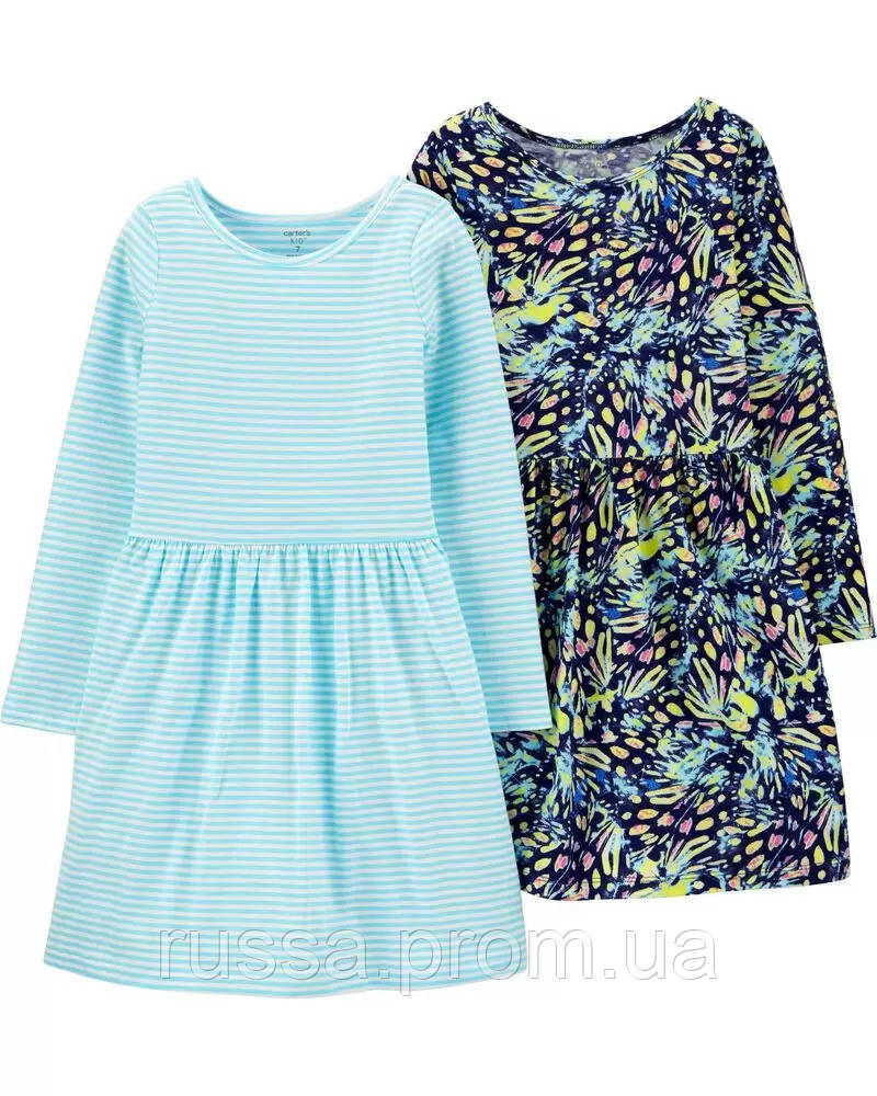 Красивые платья с длинным рукавом Картерс для девочки (поштучно)