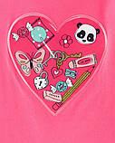 Яркий трикотажный лонгслив с интерактивным сердечком Картерс для девочки, фото 2