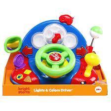 Детский руль США - развивающая музыкальная игрушка автотренер Bright Starts Baby Light and Colors Drive