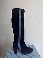 Сапоги М-120 черный замш натуральный