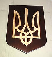 Сувенір «Герб України»- різьба по дереву, фото 1