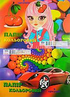 Бумага цветная А4 9л.(офс.)арт.00001
