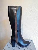 Сапоги М-120 черная кожа натуральная