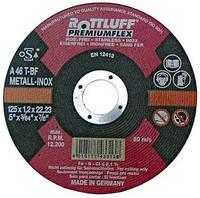 Абразивный отрезной круг, отрезной диск по металлу ROTTLUFF A46T 115х1.6х22.23 мм Premium flex