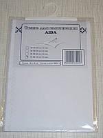 Канва (аида 18) для вышивания, белая (32*45 см)