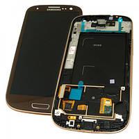 Samsung Дисплей Samsung i9300 Galaxy S3 с сенсором, рамкой и кнопкой HOME янтарно - коричневого цвета (оригинал Китай)