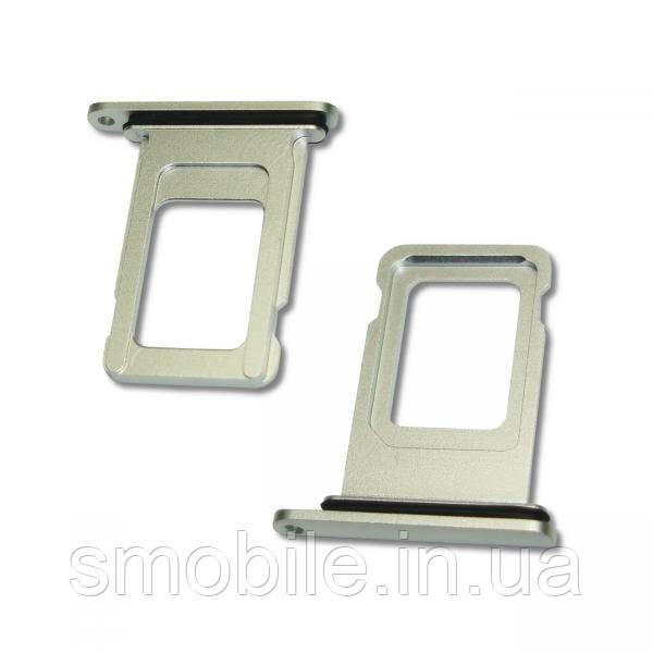 Apple Держатель, внешний слот SIM карты iPhone XR белый (оригинал)