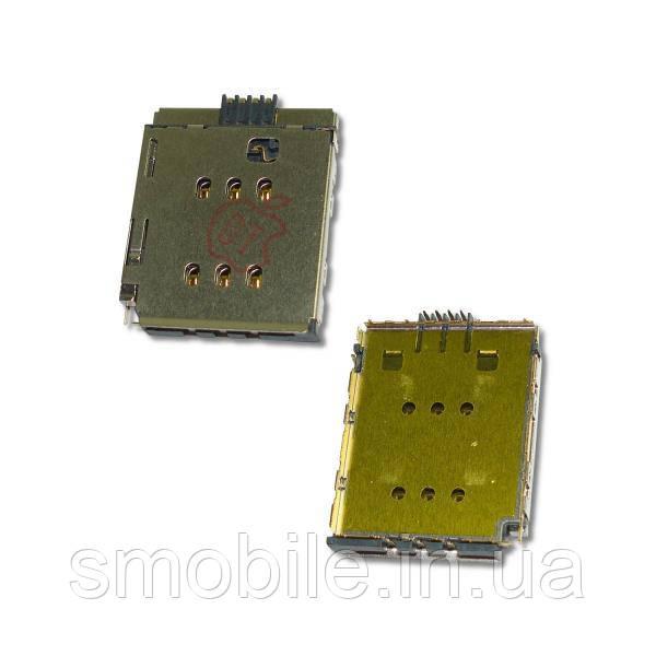 Apple Разъём SIM карты с контактами для iPhone X (оригинал)