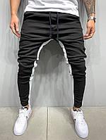 Узкие джинсы с белыми лампасами 2Y