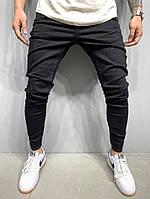 Узкие мужские джинсы черные 2Y