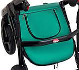 Коляска 2 в 1 Bair Mirello Plus кожа 100% MP-35 зелёный перламутр - черный, фото 9
