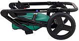Коляска 2 в 1 Bair Mirello Plus кожа 100% MP-35 зелёный перламутр - черный, фото 10