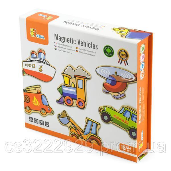Набор магнитов Транспорт Viga Toys, 20 шт. (58924)