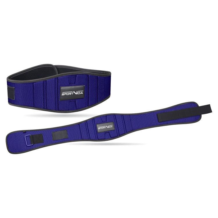 Пояс для тяжелой атлетики неопреновый SportVida SV-AG0097 (XXL) Blue