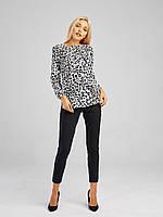 Блуза женская с леопардовым принтом OLMOD 701-1 M белая