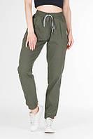 Брюки джоггеры женские на резинке, спортивные штаны женские оливковые, стрейчевые женские брюки карго VS 1131, фото 1
