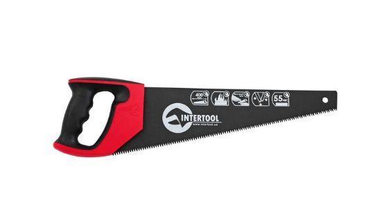 Ножовка по дереву 400 мм с тефлоновым покрытием, каленый зуб, 3-ая заточка INTERTOOL HT-3107