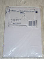 Канва (аида 11) для вышивания, белая (32*45 см)