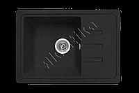 Каменная кухонная мойка, прямоугольная, черный