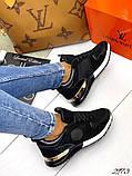 Женские кроссовки Louis Vuitton кожа + текстиль. Очень крутые! Расцветки!, фото 4