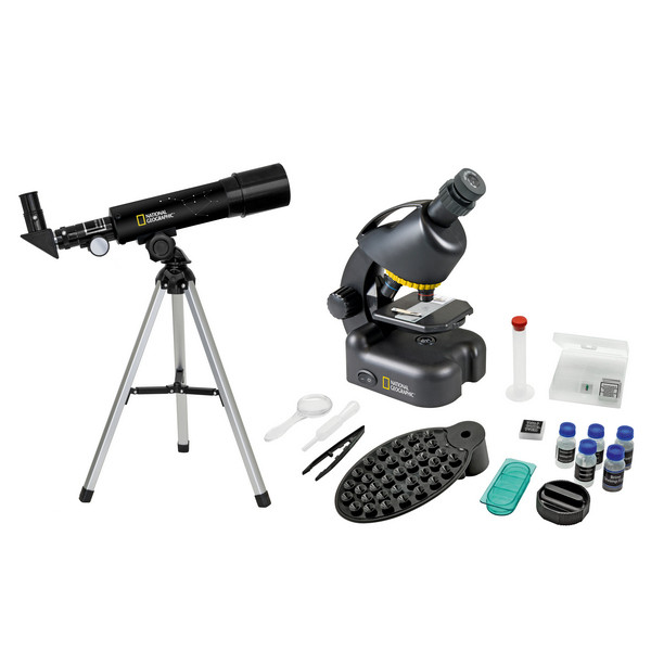 Микроскоп National Geographic Junior 40x-640x + Телескоп 50/360 (с кейсом)