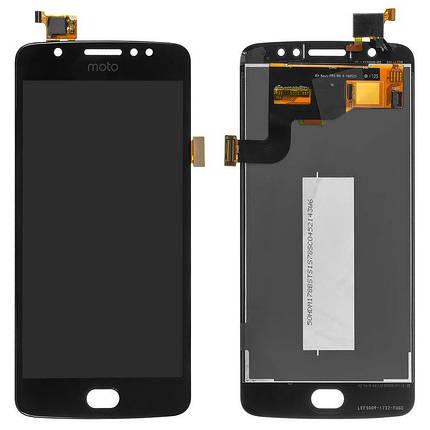 Дисплей (екран) для Motorola XT1766 Moto E4 з сенсором (тачскріном) чорний Оригінал, фото 2