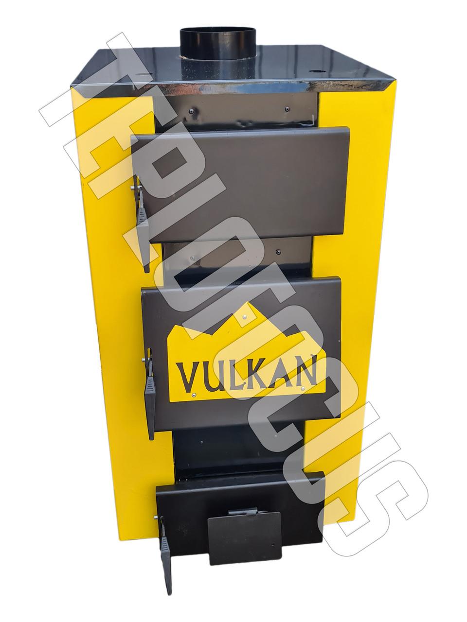 Котел твердотопливный Vulkan Standart 15 кВт (утепленный)