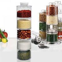 Набор емкостей для хранения специй Spice Tower Carousel 6 шт (спецовница) спайс тауэр