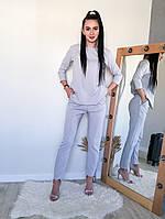 Стильний жіночий модний брючний костюм : блузка+штани (р. 42-48). Арт-2302/2