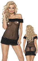 Комплект белья Эротический Roxana Mini Dress & String M-L/Black