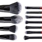 Набор кисточек для макияжа MaXmaR из 11 инструментов в черно-серебристом клатче MB-290, фото 3
