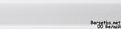 Плинтус Lima 00 Белый напольный пластиковый с кабель каналом 2500x72x22