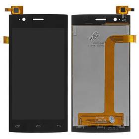 Дисплей (экран) для Fly FS451 Nimbus 1 с сенсором (тачскрином) черный Оригинал