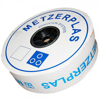 """Капельная лента """"METZERPLAS""""  6mil 20 см,водовылив - 1,0; 1,6 л/ч; в бухте 3500"""
