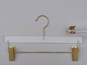 """Плічка серія """"Cristallo"""" прозорі акрилові для штанів і спідниць, довжина 33 см,Mainetti Group Італія"""