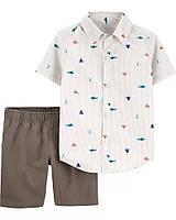 Детский комплект - тенниска и шорты на морскую тематику Картерс для мальчика