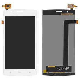 Дисплей (экран) для Fly FS501 Nimbus 3 с сенсором (тачскрином) белый