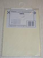 Канва (аида 16) для вышивания, экрю (32*45 см)