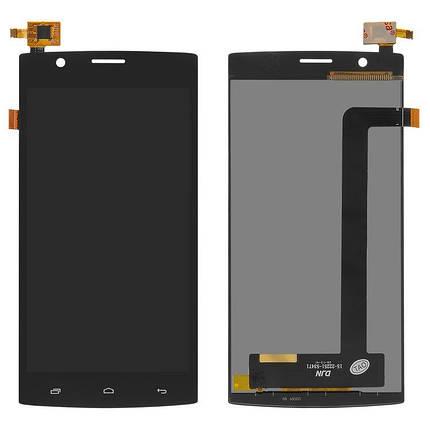 Дисплей (екран) для Fly FS501 Nimbus 3 з сенсором (тачскріном) чорний, фото 2