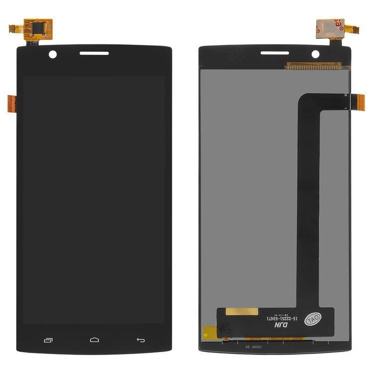 Дисплей (екран) для Fly FS501 Nimbus 3 з сенсором (тачскріном) чорний Оригінал