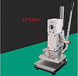 Настольный пресс для горячего тиснения WT-90AS нагревательная поверхность 10x13 см, фото 2