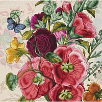 Набор для вышивания нитками Luca-S Цветы Летние цветы Aida 18