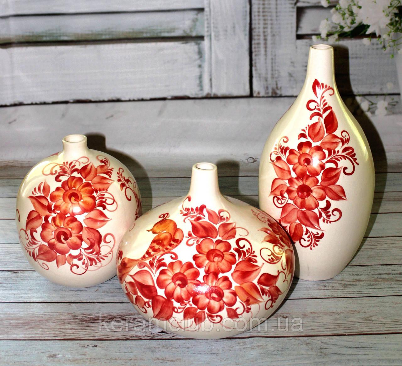 Набор интерьерных ваз рисованный