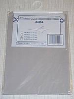 Канва (аида 16) для вышивания, серая (32*45 см)