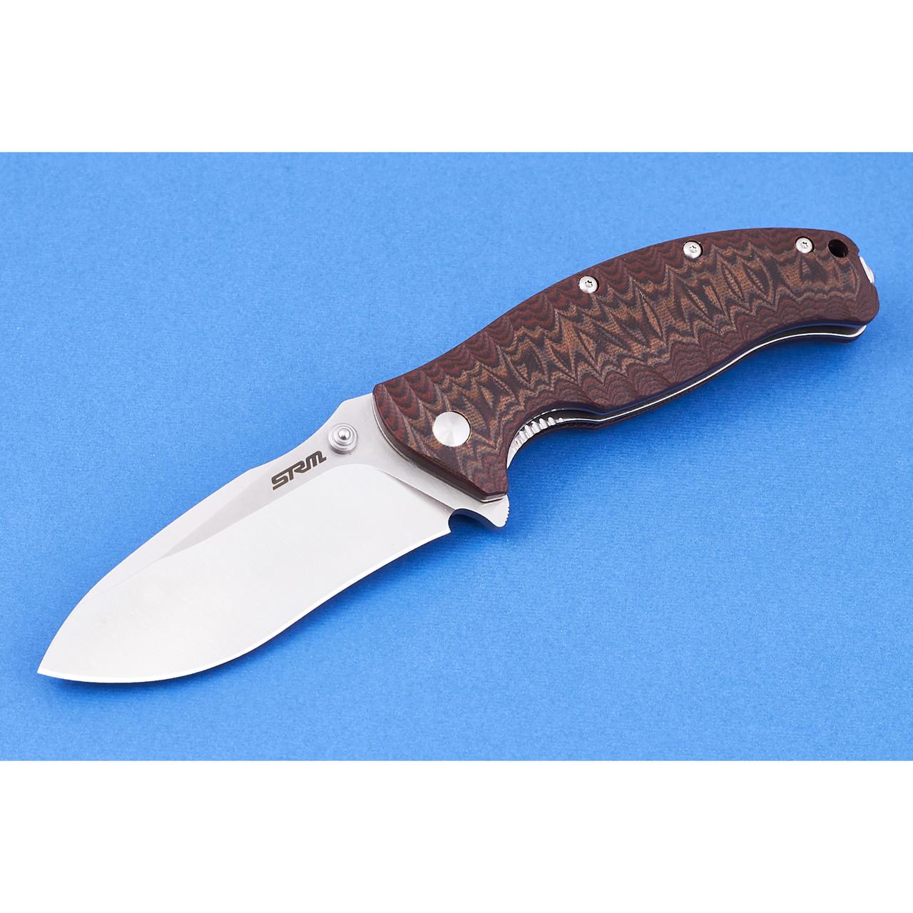 Нож складной Sanrenmu 1006 коричневый
