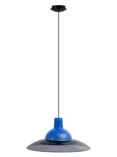 Светильник потолочный ERKA 1305 LED 12W 4200 К синий с черным кабелем