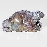 Статуэтка лягушка из разноцветной яшмы, 679ФГЯ