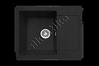 Каменная кухонная мойка, прямоугольная, черная