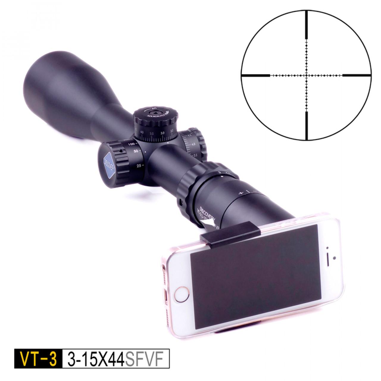 Приціл оптичний VT-3 SFP 3-15х44 SFVF-DISCOVERY